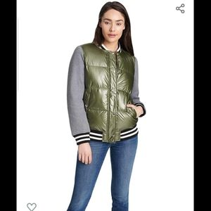 NWT Levi's Mixed Media Quilted Varsity Jacket